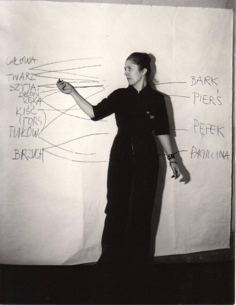 Barbara Kozłowska, Arytmia performance, Wrocław 1980