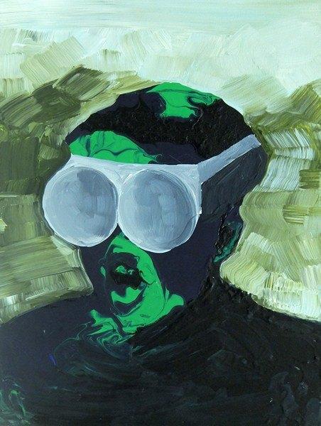 Natalia Bażowska, On patrzy, 40 x 50 cm, 2012, akryl napłótnie