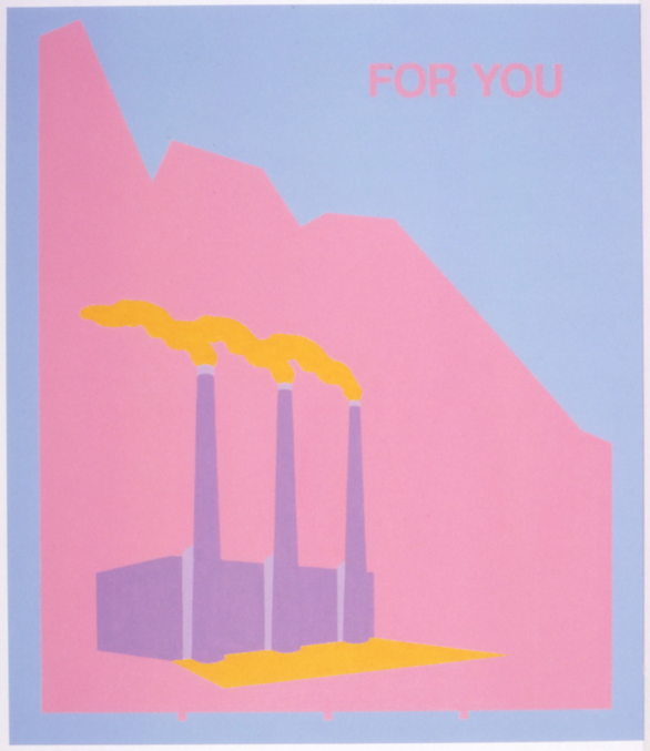 Ryszard Górecki, For You, 2001, lakiery przemysłowe, płótno, 100 x 80 cm