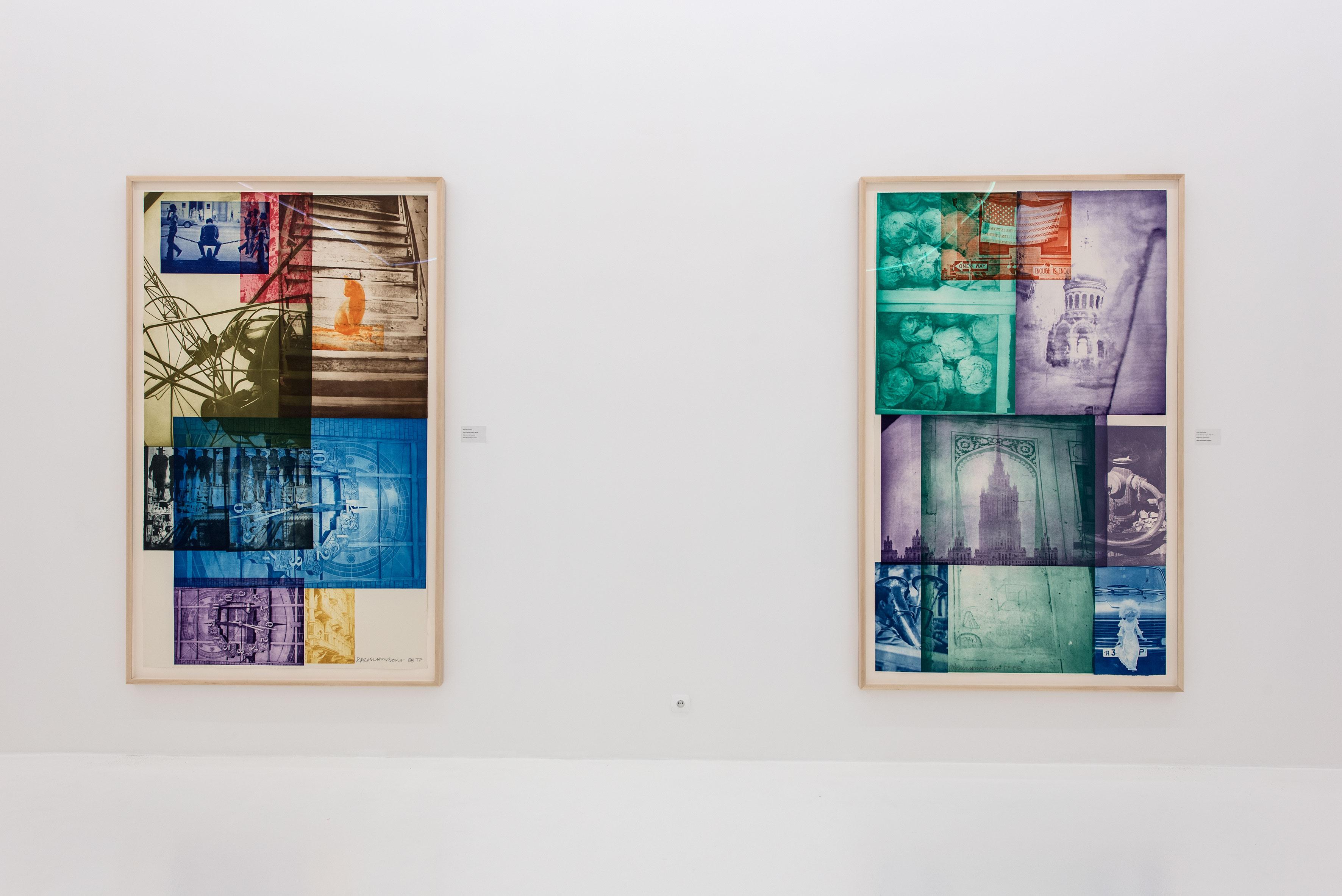 Robert Rauschenberg / Robert Rauschenberg Travels, widok wystawy, Atlas Sztuki wŁodzi