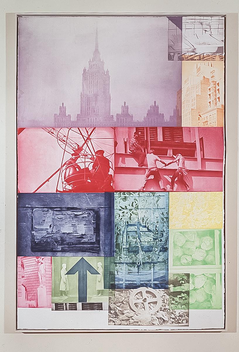 Robert Rauschenberg, Soviet / American Array VII, 1988-91, fotograwiura, dzięki uprzejmości Robert Rauschenberg Foundation