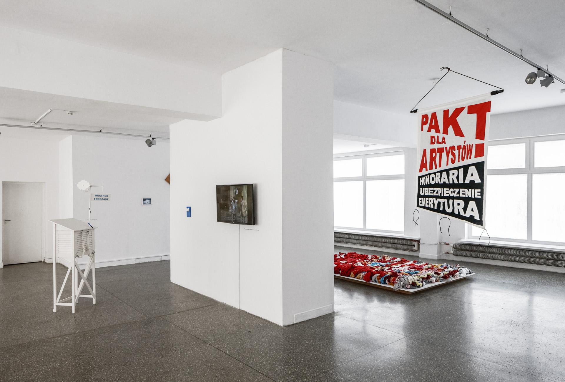 Julita Wójcik, Bezwidoków, widok wystawy, dzięki uprzejmości Gdańskiej Galerii Miejskiej