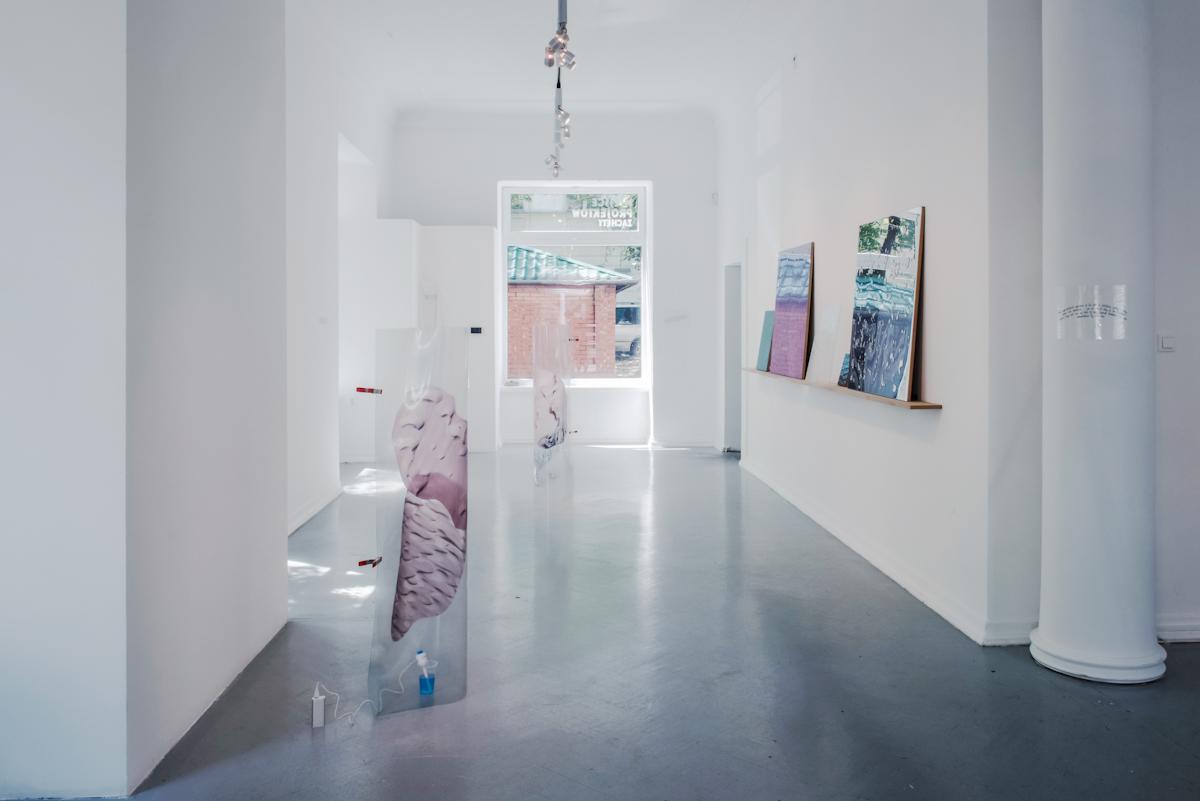 Złożone, rozłożone, widok wystawy - odlewej Pakui Hardware, Katarzyna Przezwańska, Princ Polo, dzięki uprzejmości artystów iMiejsca Projektów Zachęty