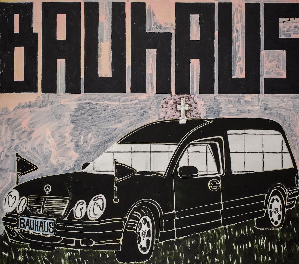 Marek Sobczyk, Bauhaus (Projekt samochodu pogrzebowego), tempera, płótno, 2009-2011