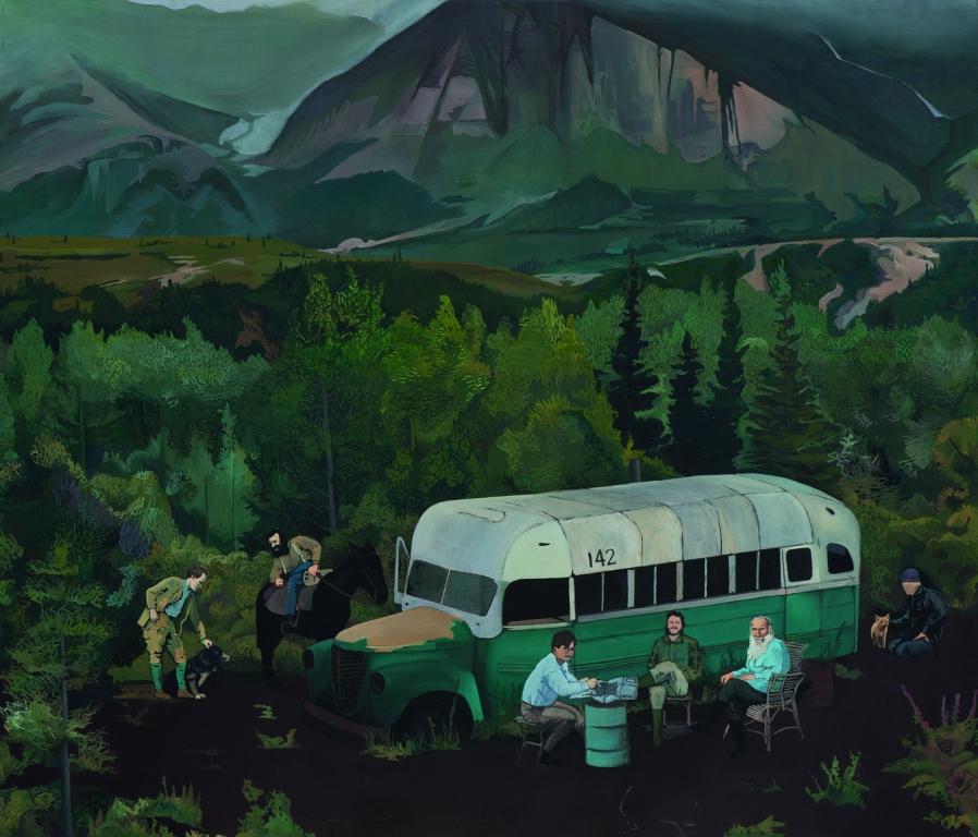 Jan Dziaczkowski, Fairbanks, olej, płótno, 120 x 150 cm, 2010