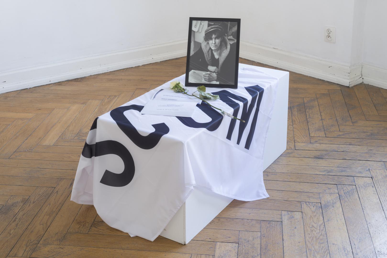 SCUM, flaga, portret Valerin Solanas