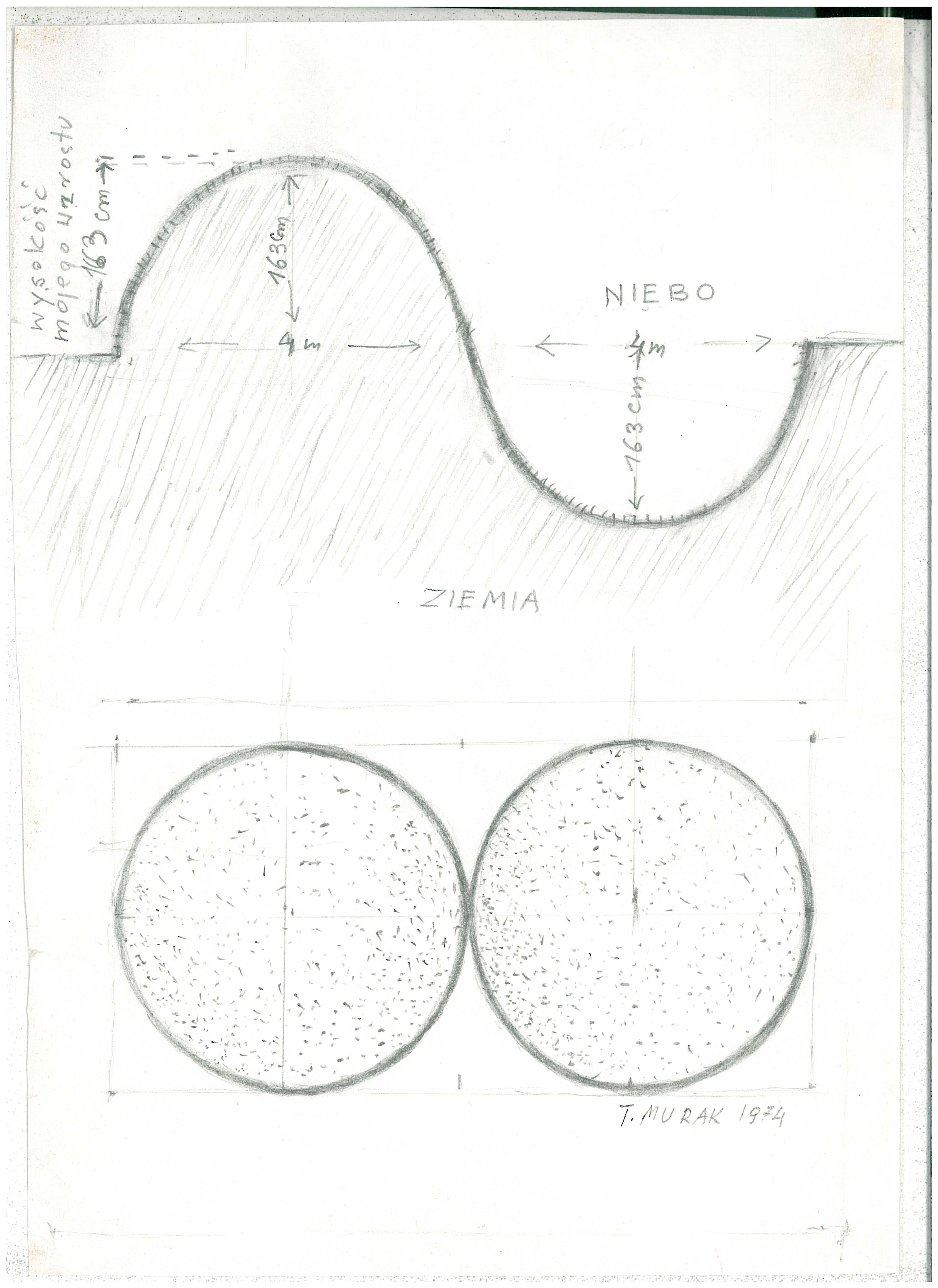 Teresa Murak, projekt Rzeźby dla Ziemi, 1974