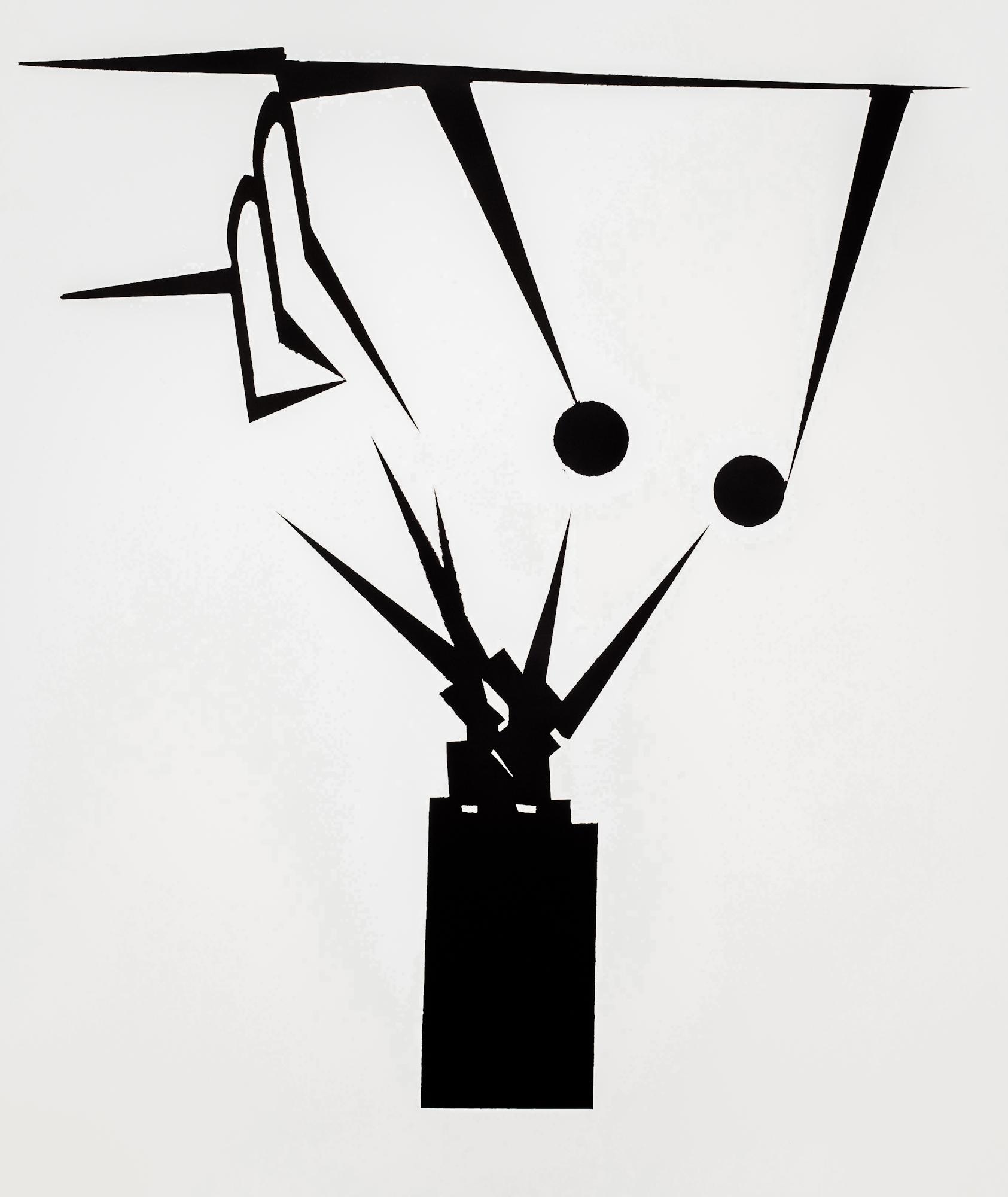 Marcin Jedlikowski, Beztytułu, olej, papier, 95 x 84 cm, 2016