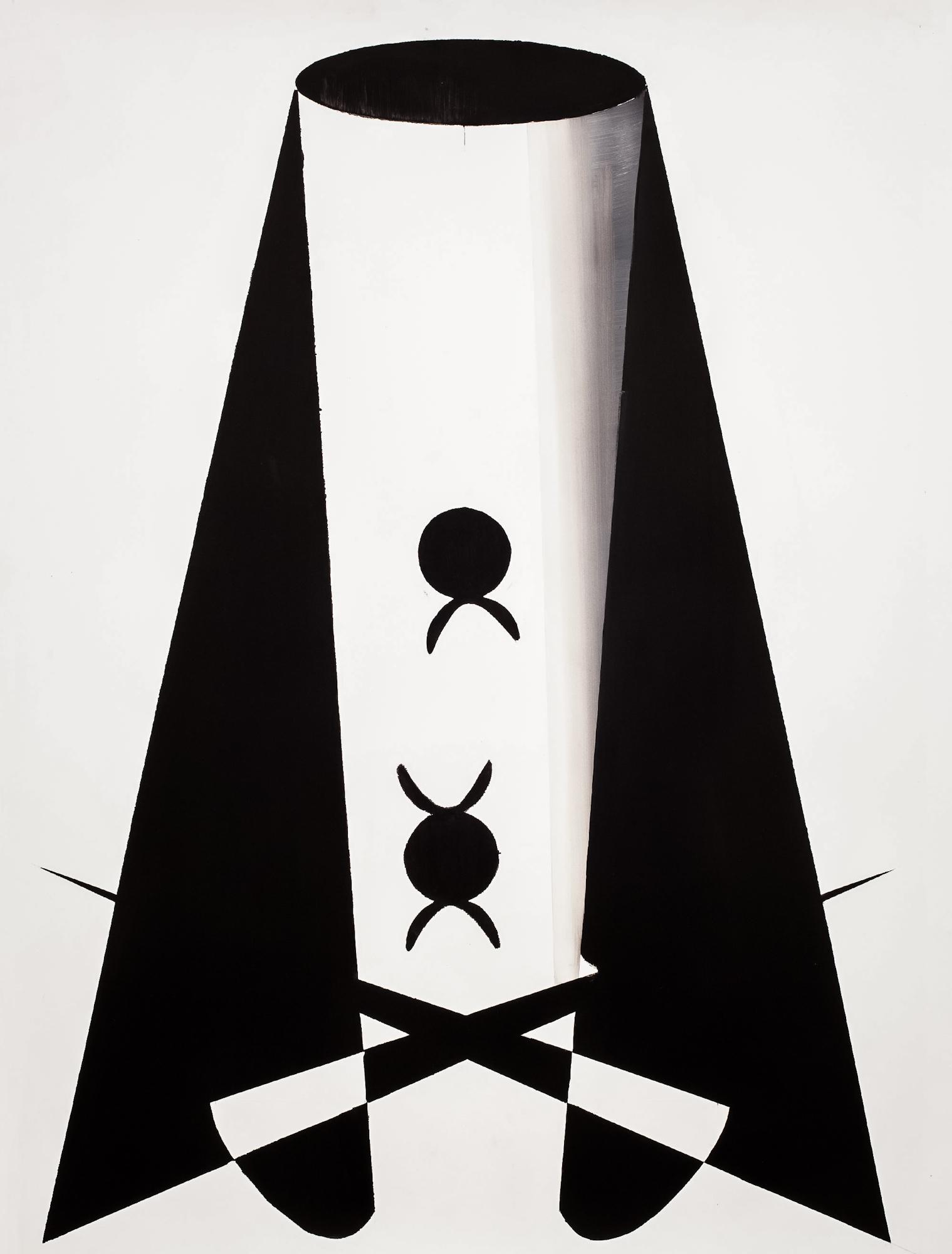 Marcin Jedlikowski, Beztytułu, olej, papier, 109 x 82 cm, 2016