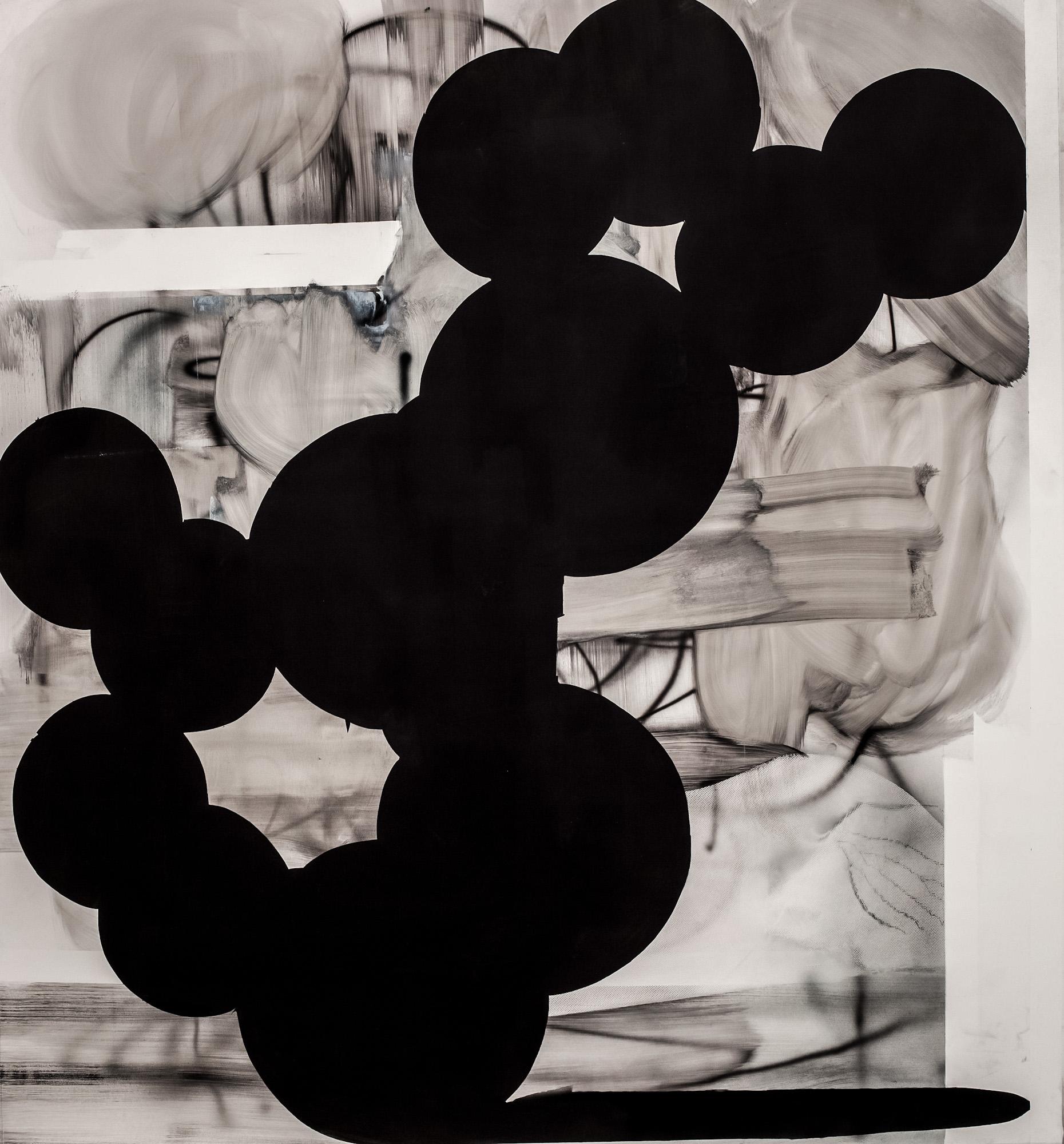 Marcin Jedlikowski, Beztytułu, olej, papier, 169 x 160 cm, 2016