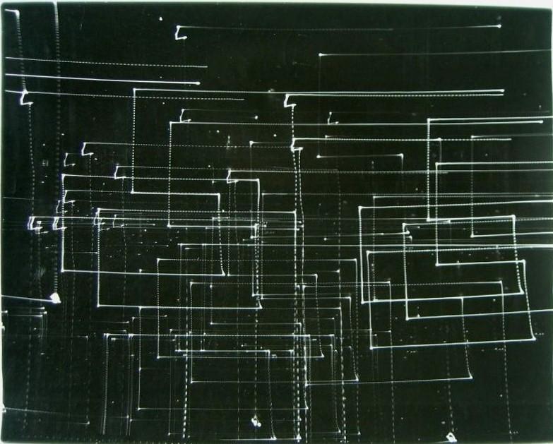 Antoni Mikołajczyk, Zapis Świetlny 3, 1980-82, fotografia czarno-biała, 48,5 x 59,5 cm