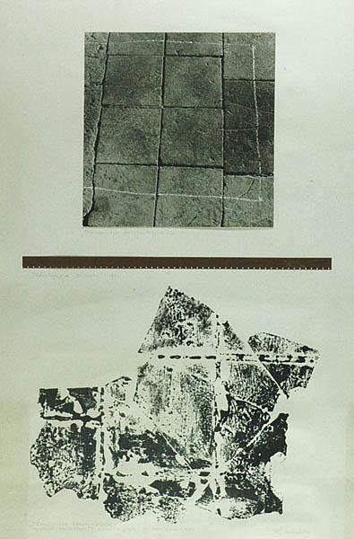 Antoni Mikołajczyk, Transmisja rzeczywistości, 1981, technika własna, papier, 86 x 57,5 cm