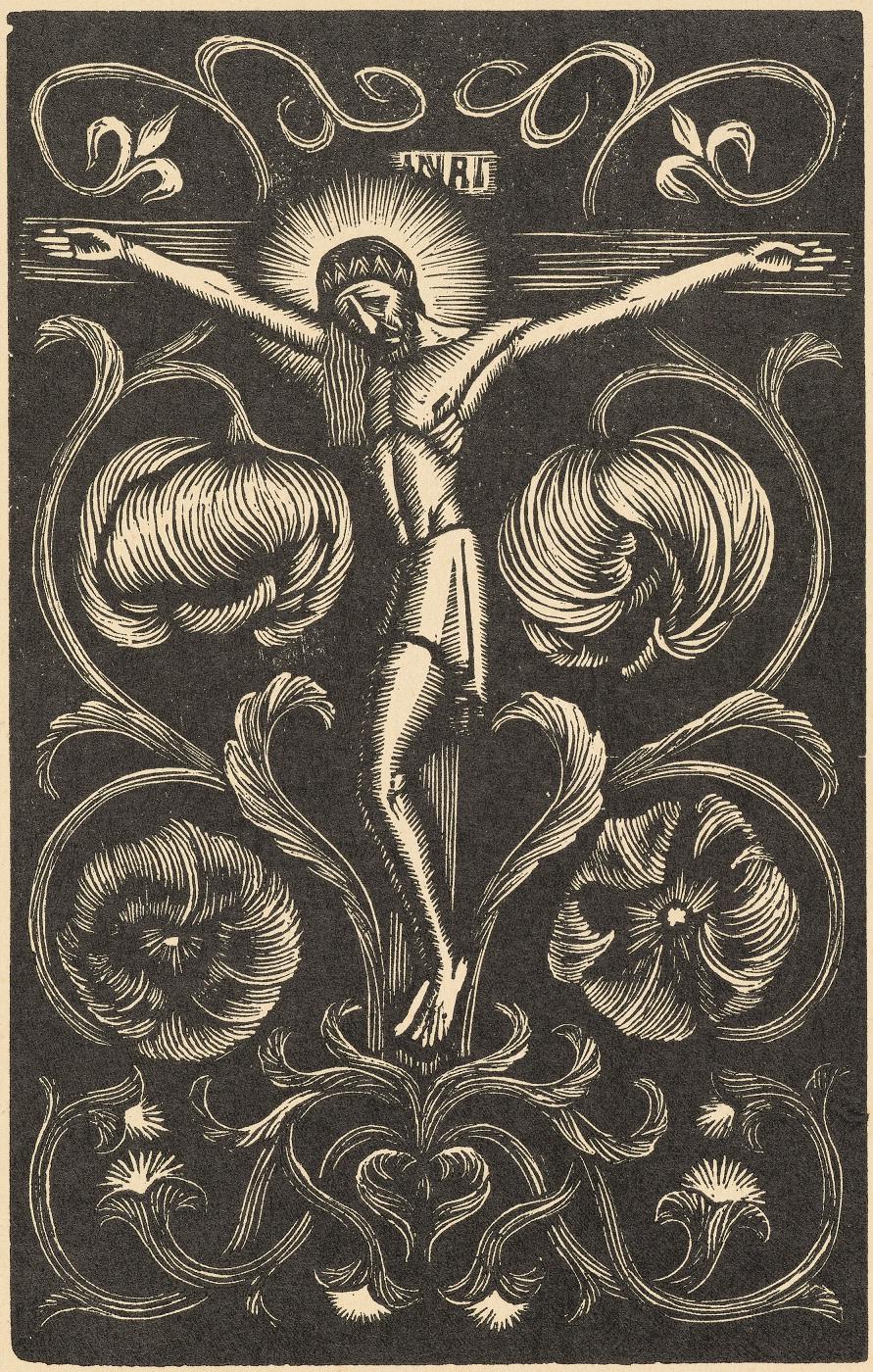 Władysław Skoczylas, Chrystus, 1921, drzeworyt, papier, Muzeum Narodowe wKrakowie, fot.Mateusz Szczypiński /Pracownia Fotograficzna MNK