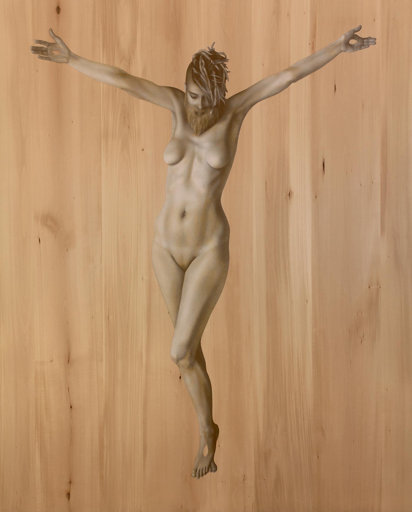 Kle Mens, Kummernis, olej nadesce, 180 x 146 cm, 2016