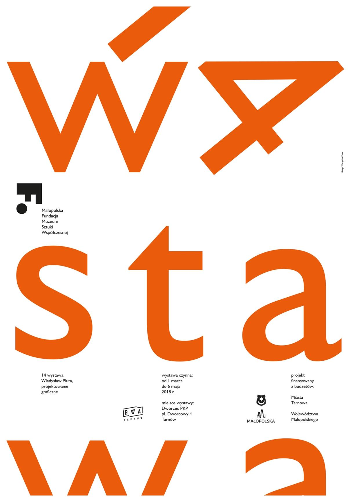 """""""14 wystawa. Władysław Pluta, projektowanie graficzne"""" wBWA Tarnów"""