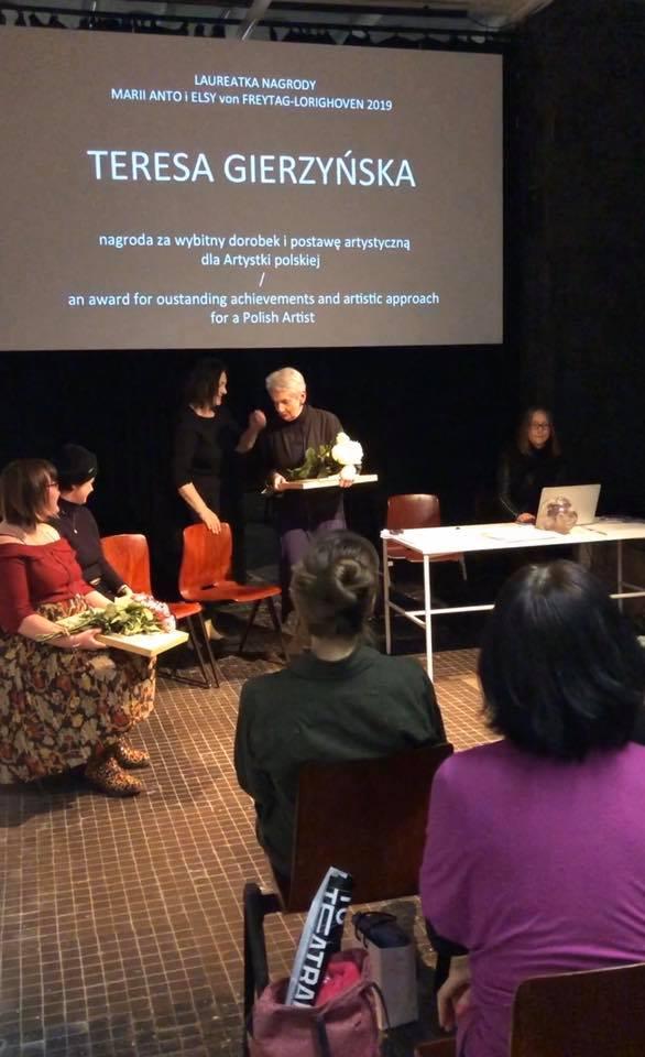 Teresa Gierzyńska, Phyllida Barlow iKatarzyna Kukuła laureatkami nagrody Marii Anto iElsy von Freytag-Laringhoven narok 2019