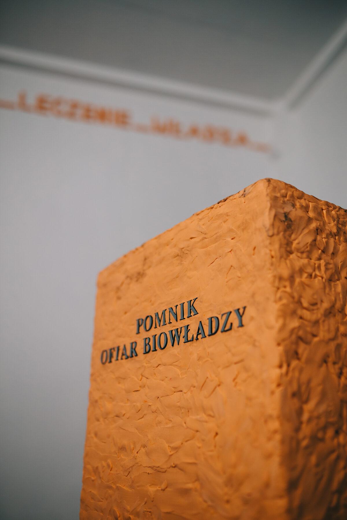"""""""Pomnik ofiar biowładzy"""" Daniela Kotowskiego wZłotym Kiosku"""