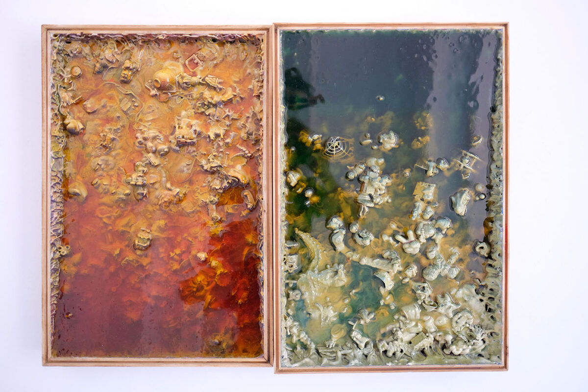 """Suchy lód"" Marty Antoniak wUFO Art Gallery"