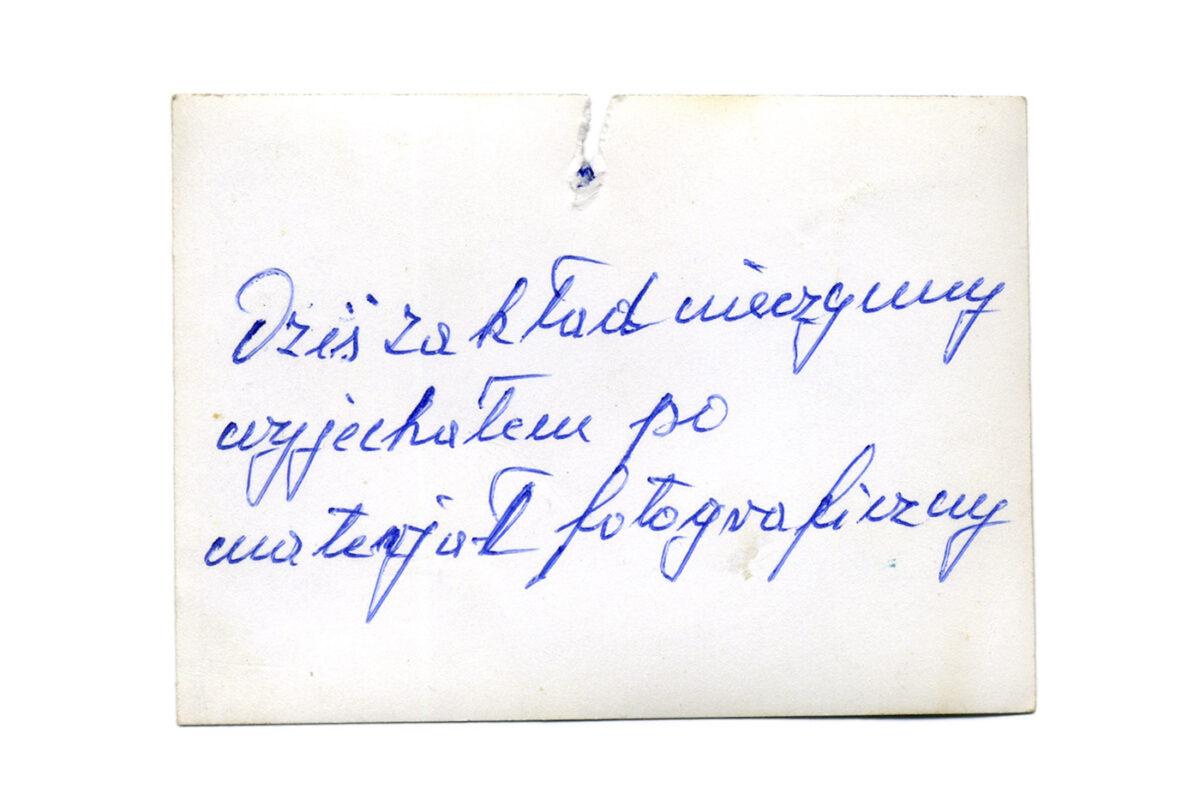 """""""Zakład fotograficzny  »ZARAZ WRACAM«"""" wGalerii Entropia"""